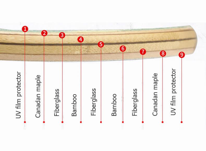 9 plies longboard