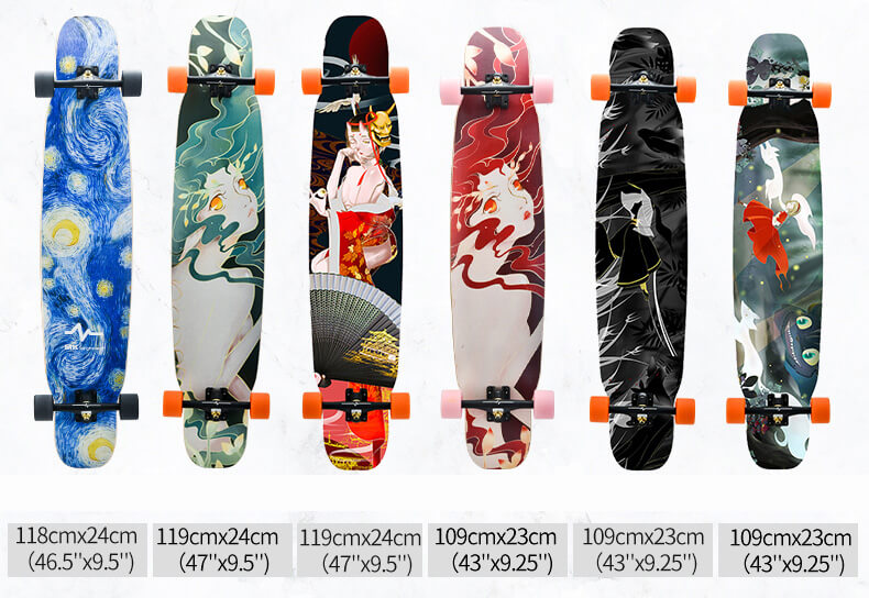 wholesale longboard with various printing